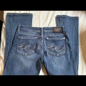 Express Low rise Boot Cut Jeans used good cond 10